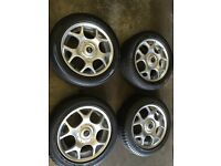 bmw mini alloy wheels and tyres 195/55/16 . £250 ovno . call 07860431401