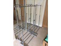 4 clothes rails