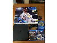 Ps4 slim 500gb with 3 games and 1 controller, barley used