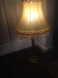 Beautiful tall ornate table lamp and shade