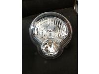 Yamaha MT-01 Headlamp with Wiring Ring & Bulbs