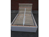 Electric adjustable small double bed with headboard