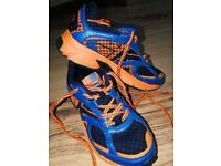Boys Karrimor run trainers size 1 blue and orange good condition £6