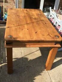 Large pine table