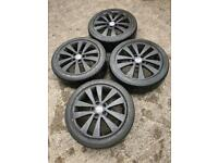 Genuine 17in VW Golf MK6 GTD Seattle alloys and tyres (Volkswagen Audi Seat Skoda Leon Caddy Jetta)