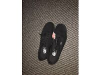 Size 11 uk black vans shoes