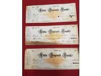 OLD BANK CHEQUES