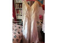 Ivory and white lace wedding dress - excellent condition