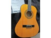 Encore ENC34OFT Natural Wood Three Quarter Classic Guitar