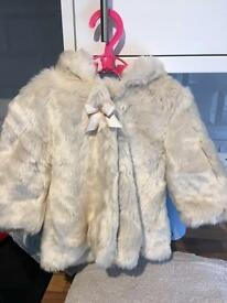 3-6 month M&Co faux fur coat