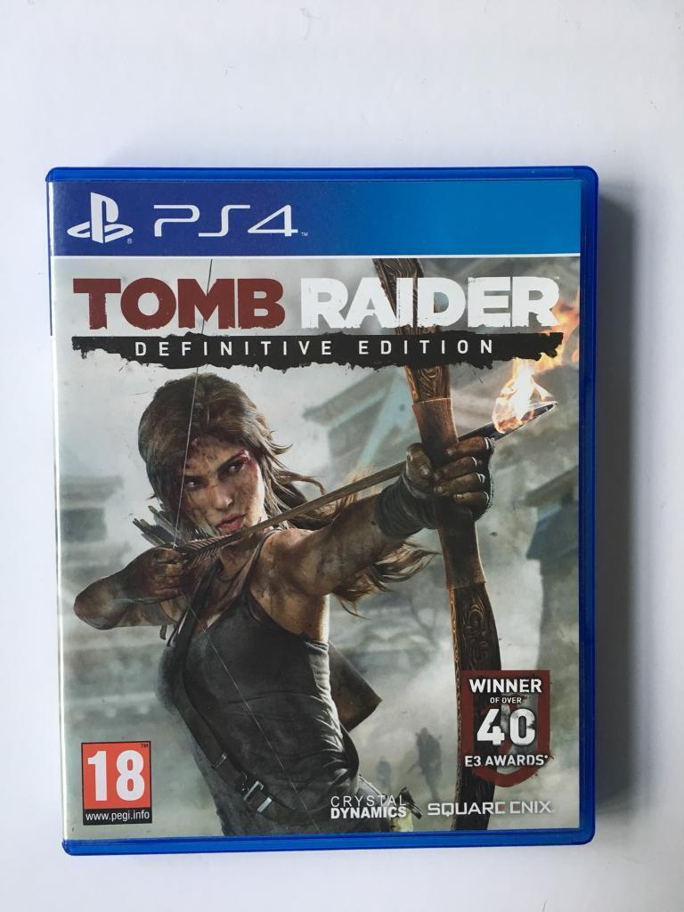 Tomb raider definitive edition for PS4 hardly used.