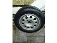 Audi pepper pot alloy with tyre used as spare