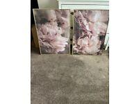 Desenio pink floral wall prints