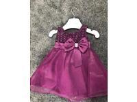 6-12 Months kids bridesmaid purple dress