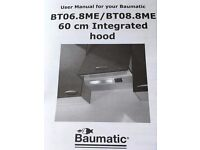 Beaumatic Integrated Cooker Hood - only 10 months old