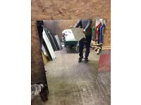 Large mirror removed from caravan