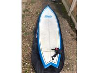 Surfboard 6'6' fish tail - gul hardly used
