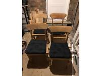 4 antique/vintage dining chairs (oak/pine)