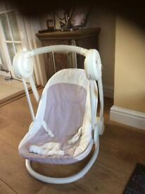 Mamas and papas musical swing chair just needs new batteries pet free smoke free home
