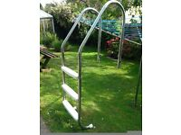 Stainless Steel, In-ground Swimming Pool Steps / Ladder