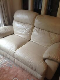 Leather electric two seat sofa from Furniture Village