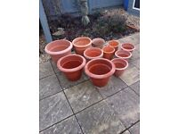 Selection of Plastic Planters (various sizes)
