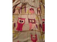 """Pair of purple owl curtains. 72"""" drop. Great condition"""
