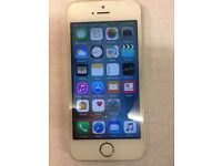I Phone 5S 16GB unlocked Good Condition White Silver & white Gold color