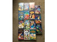 Genuine Disney Classic VHS video collection