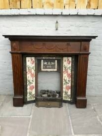 Cast iron fireplace and surround