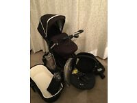 SILVER CROSS PIONEER complete travel system inc isofix base