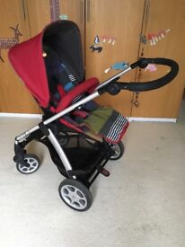 Sola mamas and papas pram and carrycot - can be sold separately (pram £95, carry cot £30)