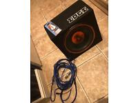"""Edge 900w 12"""" sub built in amp and wires included"""