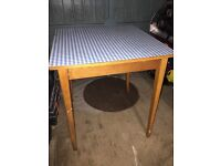 Vintage retro kitchen table shabby chic style