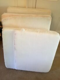 FOAM - Two approx 84 cm x 74 x 16 and Two approx 78 com x 74 x 16 pads £50 the lot