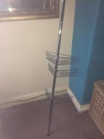 Shower pole tray