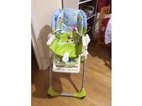 CHICCO Polly Highchair Excellent condition- £20 (Free Potty seat-Brand New unused )