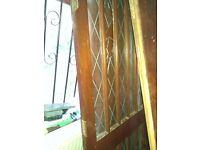 Glazed and leaded external door