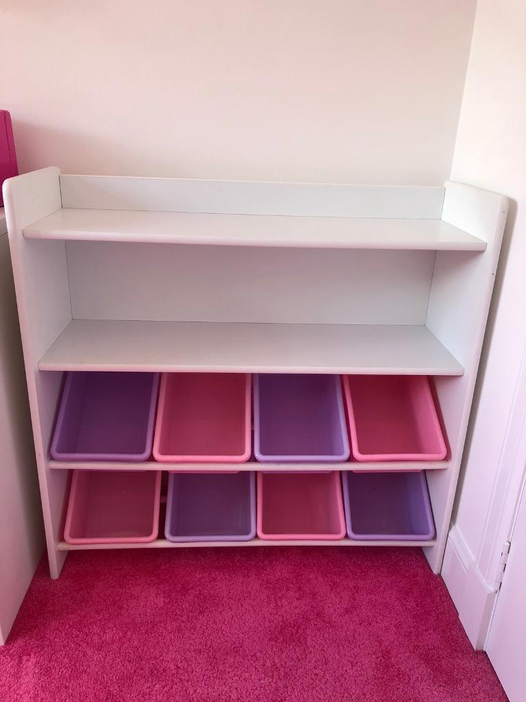 White Bookshelf Kids Childrens