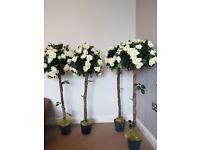 Artificial Rose Bush x4 perfect as wedding decor or in the garden