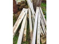 6ft slatted concrete fence panel posts