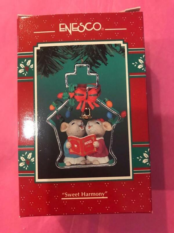Enesco Ornament 1995 Sweet Harmony Cookie Cutter Cuties Christmas #3 Final Mice