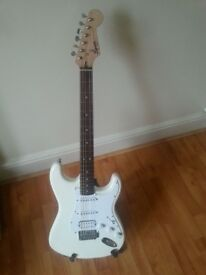 Used Squier White guitar