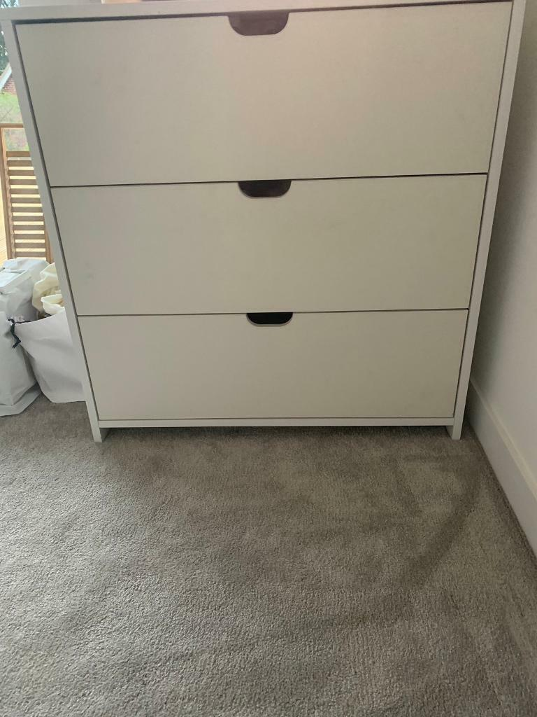 White Three Chest Of Drawers Nursery Furniture Changing Station Top Reduced For Quick In Norwich Norfolk Gumtree