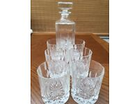 Cristal Decanter and 6 glasses
