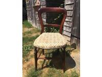 Victorian Bedroom Chair in original condition
