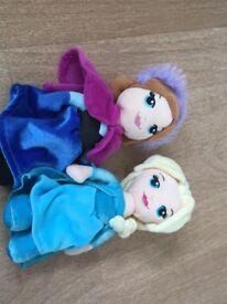 Frozen Anna & Elsa soft toys