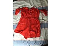 Boohoo red playsuit, size 10