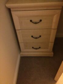 Bedside Cabinet & Chest of Drawer