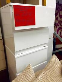 White bedside units - NEW